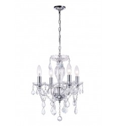 Princeton 4 Light Up Chandelier with Chrome finish (8276P14C-4 (Clear))