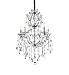 CWI- Abby 9 Light Up Chandelier with Chrome finish (8398P32C-9 (Clear))