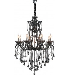 CWI- Abby 9 Light Up Chandelier with Chrome finish (8398P32C-9 (Smoke))