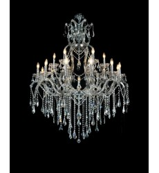 CWI- Abby 19 Light Up Chandelier with Chrome finish (8398P44C-19 (Smoke))