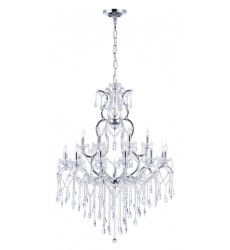 CWI- Abby 19 Light Up Chandelier with Chrome finish (8398P44C-19 (Clear))