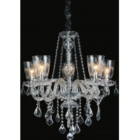 CWI- Ella 5 Light Up Chandelier with Chrome finish (8401P25C-5)