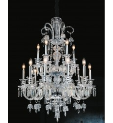 CWI- Joan 15 Light Up Chandelier with Chrome finish (8414P34C-15)