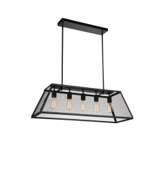CWI - Macleay 5 Light Down Chandelier with Black finish (9601P36-5-101-A)