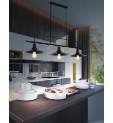 Brave 3 Light Pool Table Light with Black finish (9605P46-3-101)