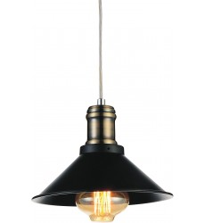 Brave 1 Light Down Mini Pendant with Black finish (9605P8-1-101)