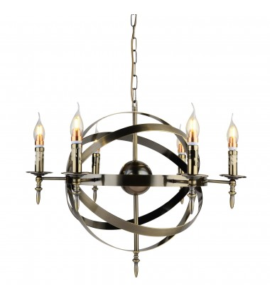 CWI- Troy 6 Light Up Chandelier with Antique Bronze finish (9634P25-6-604)