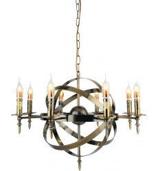 Troy 8 Light Up Chandelier with Antique Bronze finish (9634P28-8-604)