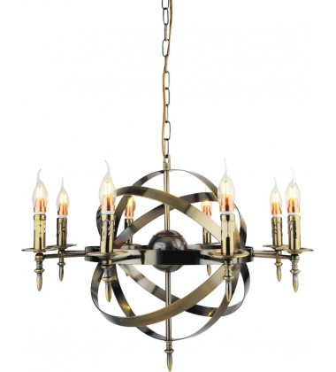 CWI- Troy 8 Light Up Chandelier with Antique Bronze finish (9634P28-8-604)