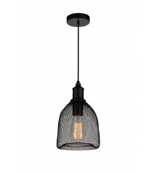 Drea 1 Light Down Mini Pendant with Black finish (9638P7-1-101)