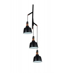 CWI- Tower Bell 3 Light Down Pendant with Black finish (9648P22-3-Black)