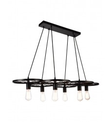 CWI- Ravi  6 Light Down Chandelier with Black finish (9699P41-6-101)
