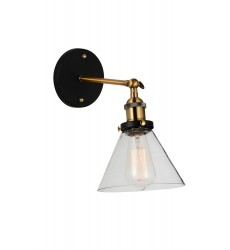 CWI - Eustis 1 Light Wall Sconce with Black & Gold Brass finish (9735W7-1-101)