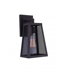 Alistaire 1 Light Wall Sconce with Reddish Black finish (9746W7-1-219) - CWI Lighting