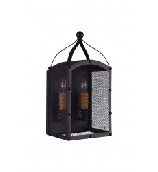 Altair 2 Light Wall Sconce with Reddish Black finish (9747W8-2-219) - CWI Lighting