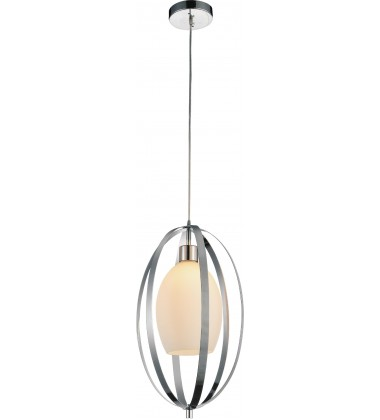 Dahlia 1 Light Down Mini Pendant with Satin Nickel finish (9801P12-1-O-606)