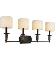 CWI- Sia 4 Light Wall Sconce with Black finish (9808W33-4-101)