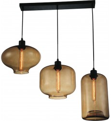 CWI - Topaz 3 Light Multi Light Pendant with Black finish (9815P30-3-101)