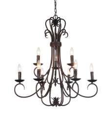 CWI - Maddy 9 Light Up Chandelier with Oil Rubbed Brown finish (9817P29-9-121)