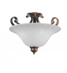 CWI- Victoria 3 Light Bowl Flush Mount with Antique Gold finish (9822C16-3-124)