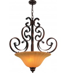 CWI- Victoria 3 Light Up Chandelier with Antique Gold finish (9822P22-3-124)