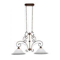 CWI- Victoria 2 Light Down Chandelier with Antique Gold finish (9822P39-2-124)