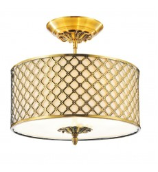 CWI- Gloria 3 Light Drum Shade Flush Mount with French Gold finish (9835C16-3-605)