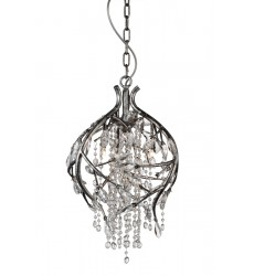 CWI - Mackay 3 Light Down Chandelier with Speckled Nickel finish (9842P14-3-184)