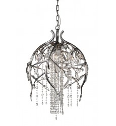 CWI- Mackay 6 Light Down Chandelier with Speckled Nickel finish (9842P19-6-184)