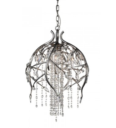 Mackay 6 Light Down Chandelier with Speckled Nickel finish (9842P19-6-184)