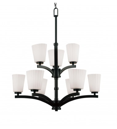 CWI- Valencia 9 Light Up Chandelier with Black finish (9844P28-9-101)
