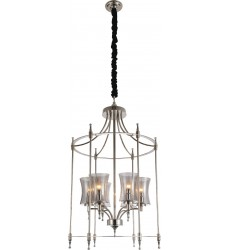 CWI - London 6 Light Up Chandelier with Chrome finish (9859P22-6-601)
