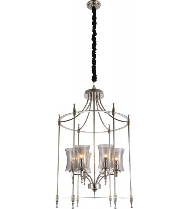 CWI- London 6 Light Up Chandelier with Chrome finish (9859P22-6-601)