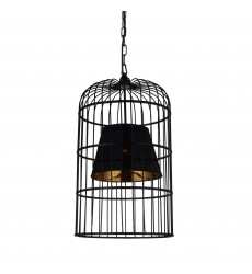 CWI- Silvester 1 Light Up Chandelier with Black finish (9865P16-1-101)