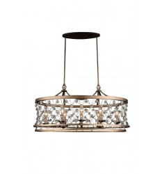 Tieda 8 Light Up Chandelier with Speckled Bronze finish (9907P38-8-206)