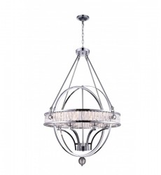 Arkansas 6 Light  Chandelier with Black finish (9957P30-6-101) - CWI Lighting