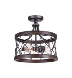 Amazon 3 Light Cage Semi-Flush Mount with Gun Metal finish (9966C16-3-242)