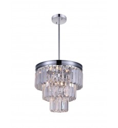CWI- Weiss 8 Light Down Mini Chandelier with Chrome finish (9969P12-8-601)