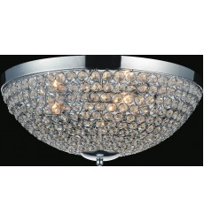 CWI- Globe 3 Light Bowl Flush Mount with Chrome finish (QS8357C12C)