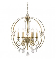 GL - Ella 6 Light Chandelier (1323-6 WG)