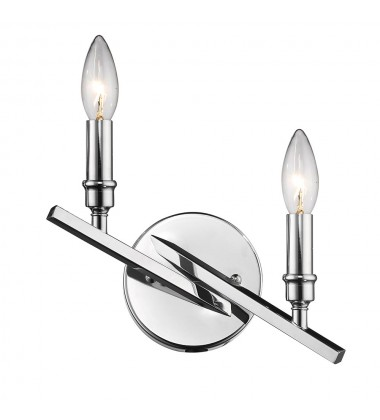 Garvin 2 Light Wall Sconce (2360-2W CH)
