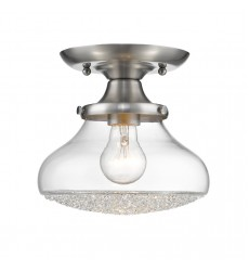 GL - Asha Semi-Flush - Small Glass (3417-SF PW-CC)