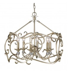 GL - Colette 6 Light Chandelier (4616-6 WG)