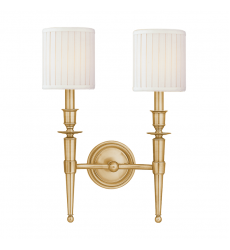 Hudson Valley - Abington 2 Light Wall Sconce (4902-AGB)