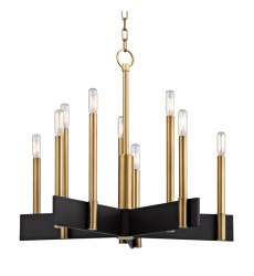 Hudson Valley - Abrams 10 Light Chandelier (8825-AGB)