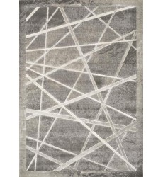 Kalora - 3x5 Alaska Grey White Crossed Lines Textured Rug (4609/78 80150)