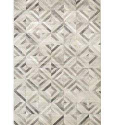 Kalora - Alaska Grey White Diamond Squares Rug (4645/47 60110)