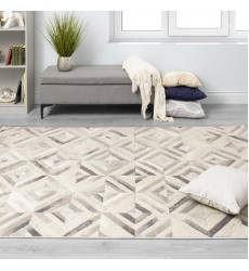 Kalora - Alaska Grey White Diamond Squares Rug (4645/47 240320)
