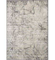 Kalora - Alaska Grey White Flower Bursts Rug (9193/64 240320)