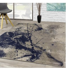 Kalora - Alaska Grey Blue Paint Splatter Rug (9405/63 240320)